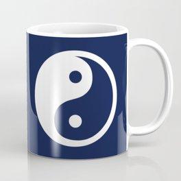 Indigo Navy Blue Yin Yang Coffee Mug
