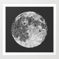 Abstract Full Moon Art Print