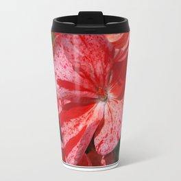 Zonal Geranium named Mosaic Red Travel Mug