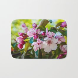 Pink apple blossom Bath Mat