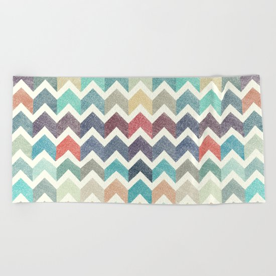 Glitter Chevron IV Beach Towel