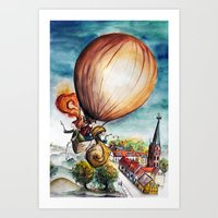 baloon Art Prints featuring Baloon by Eva Gamsbøl