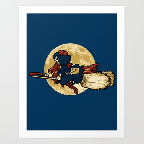 WIZARDS LOVE WITCHES Art Print