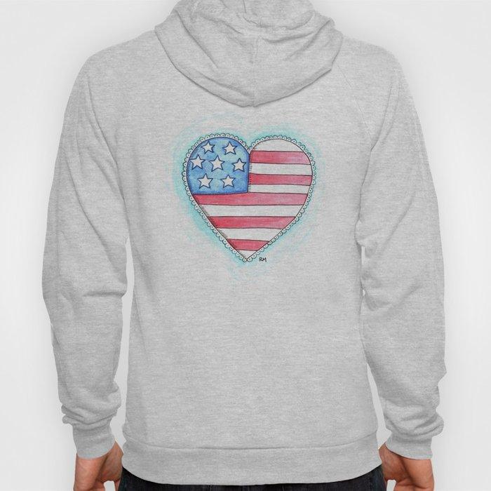 Patriotic Heart Hoody