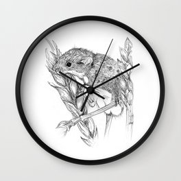 Harvest mouse Wall Clock