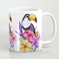 toucan Mugs featuring Toucan by Julia Badeeva
