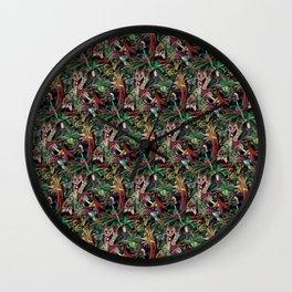 Rainforest Corner - PATTERN Wall Clock