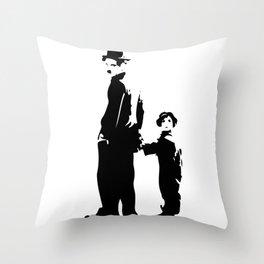 Charlie Chaplin - The Kid 1921 - Artwork for Wall Art, Posters, Prints, Tshirts, Bags, Men Women Kid Throw Pillow