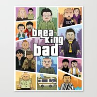 gta Canvas Prints featuring Lego Gta Mashup Breaking Bad by Akyanyme