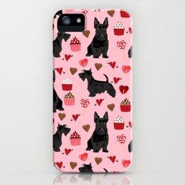 Scottie scottish terrier valentines day dog love pet portrait cute puppy dog valentine iPhone Case