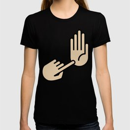 Kalamazoo Michigan Hand Map T-shirt