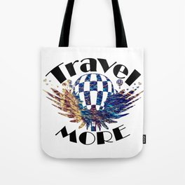 Travel More text Tote Bag
