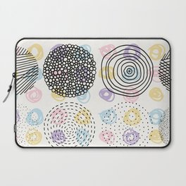 Black and colorful circles cute modern pattern Laptop Sleeve