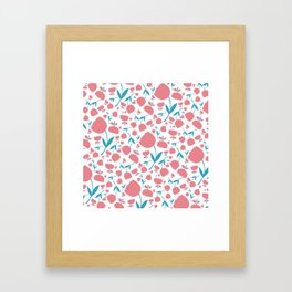 Cup Flowers Framed Art Print