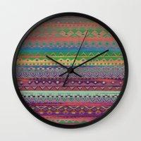 ethnic Wall Clocks featuring Ethnic Bracelet by Nika