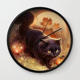 Halloween Kitty 2019 Wall Clock