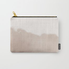 Watercolor Fade (antique brass/pampas) Carry-All Pouch