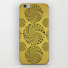 Mandala of Love Symbols from Ancient Cultures on Papyrus iPhone Skin