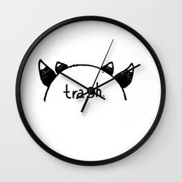 cosplaying trash Wall Clock