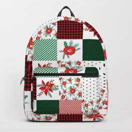Plaid quilt pattern outdoors nature forest christmas holidays gifts Backpack