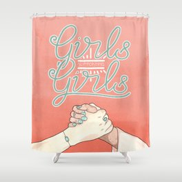 Girls Supporting Girls Intersectional Feminism Shower Curtain