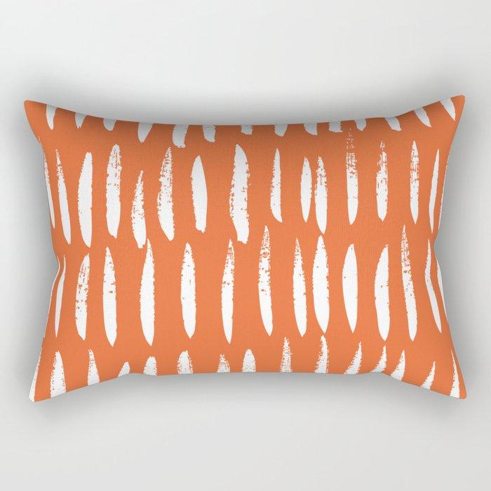 Brush Stroke Staccato Rectangular Pillow