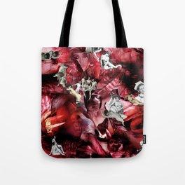 Scarlet Ocean Tempest Tote Bag