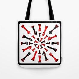 Red/Black Chessmen Tote Bag