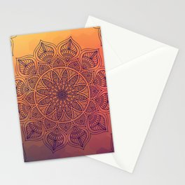 Peach Mandala Stationery Cards
