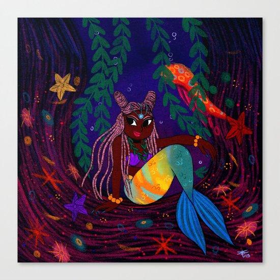 Tropical Mermadia Canvas Print