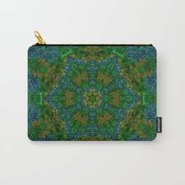 Yellow Green and Blue Kaleidoscope Carry-All Pouch