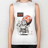 tintin Biker Tanks featuring I'm the prophet / Tintin and Snowy by remedact