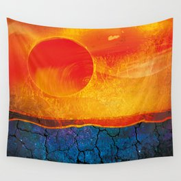 desert and sun Wall Tapestry