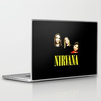 nirvana Laptop & iPad Skins featuring Nirvana Band by Rothko