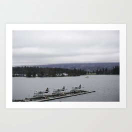 Looking out towards Stanley Park Vancouver Art Print