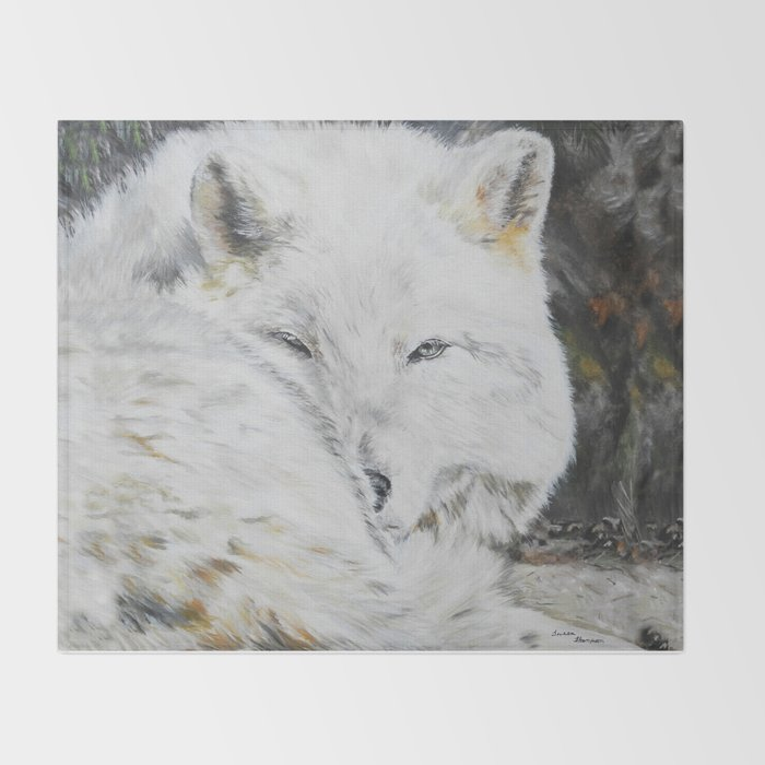 Eye of the Wild by Teresa Thompson Throw Blanket