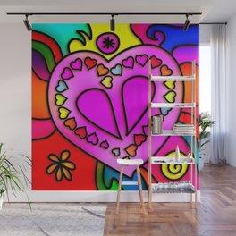 Colorful Modern Love Wall Mural