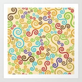 Colorful curves Art Print