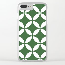 Palm Springs Screen: Kelly Green Clear iPhone Case