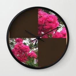 Crape Myrtle Blank Q3F0 Wall Clock