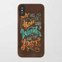 not all who wander are lost iPhone & iPod Cases featuring Not All Those Who Wander Are Lost by becca cahan