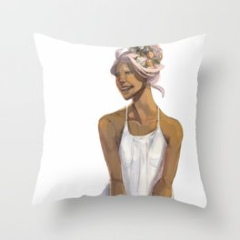 Flower Crowned | Allura Throw Pillow
