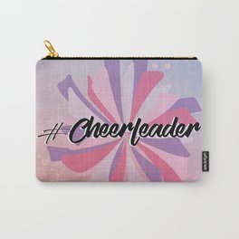 Hashtag Cheer on Hearts Carry-All Pouch