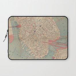 Vintage Map of Boston MA (1882) Laptop Sleeve