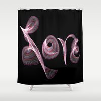 letters Shower Curtains featuring Love Letters by Tina Vaughn