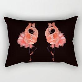 Flamingo ballerina Rectangular Pillow