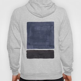 Navy Black Rothko Fun Colorful Mid Century Modern Abstract Painting Shapes Pattern Hoody