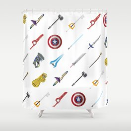 Fantasy Weapons Pattern Shower Curtain