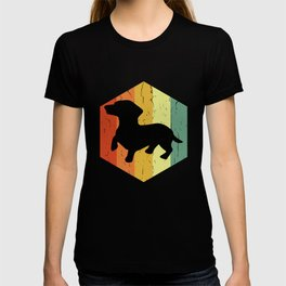 Distressed Dachshund Teckel Hexagon T-shirt