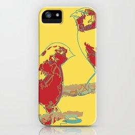 Abstract Sunshine Bird Illustration iPhone Case